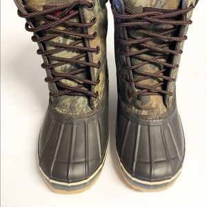 Timber Wolf Camo Brown Boys Boots